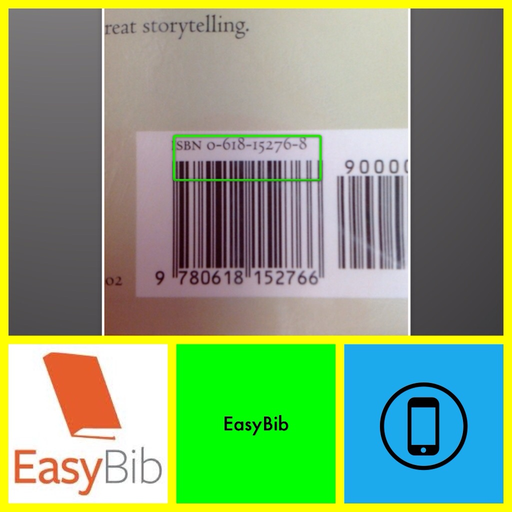 easybib research kvcc scan a book barcode to create a citation using the easybib app available for both apple and android phones and tablets