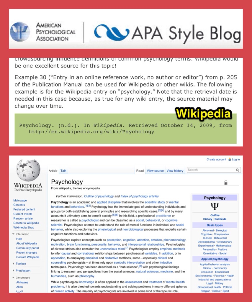 How to reference wikipedia apa