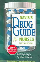 Davis's Drug Guide cover with picture of pill bottle